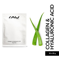 RAU Collagen & Hyaluronic Acid Mask Vliesmaske 10er Pack - Masque non-tissés au collagène et à l´acide hyaluronique en pack de 10