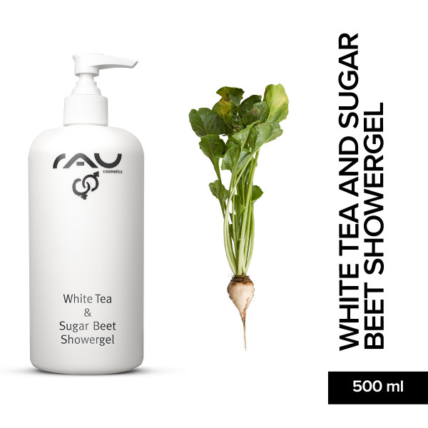 Rau White Tea And Sugar Beet Showergel 500 ml Duschgel Hautpflege Onlineshop Naturkosmetik