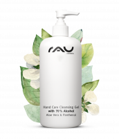 RAU Hand Care Cleansing Gel 500 ml - Handreinigung mit 70% Alkohol, Aloe Vera, Jojoba und Panthenol