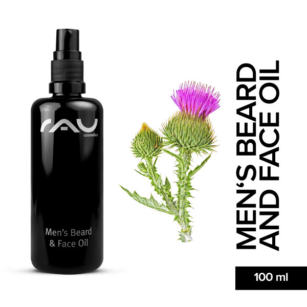 Rau Men's Beard And Face Oil 100 ml Bart Öl Haar Pflege Gesicht Haut Online Shop Naturkosmetik