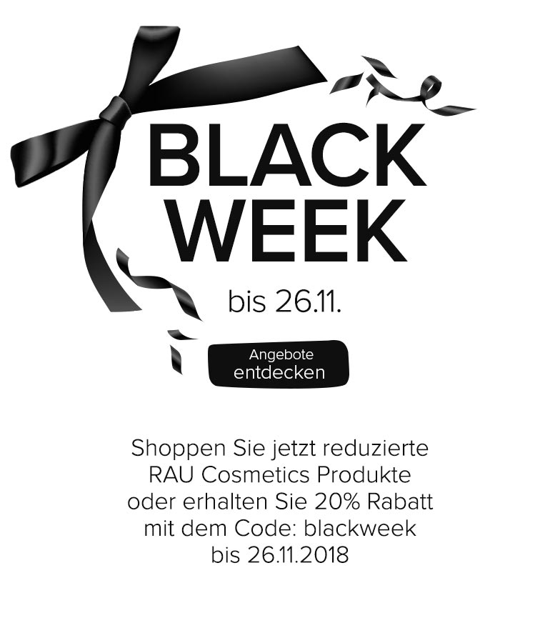 Black Week Sale bei RAU Cosmetics