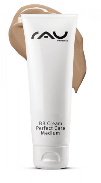 RAU BB Cream Perfect Care Medium 75 ml - Gesichtspflege und Make-up -  Mandelöl, Bienenwachs, Traubenkernöl, Panthenol, Zink & Vitamin E